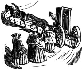 wood-engraving print: En Route for A Sentimental Journey